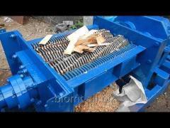 Shredera for secondary raw materials of 1,0-5,0
