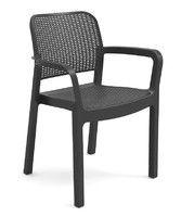 Chair plastic Samanna, gray