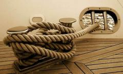 The rope is mooring polypropylene