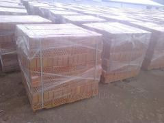 Brick for construction of buildings, fences