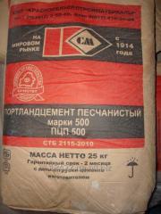 Cement of the PTsP-500 brand, 25 kg, vir-in R.