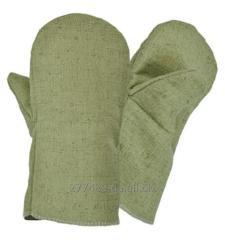 Mittens tarpaulin with the tarpaulin handheld