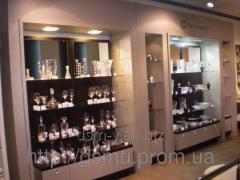 Trade equipment: counters, show-windows, shelves,