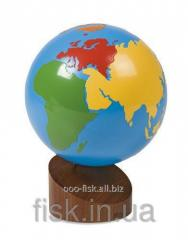 Continents globe (color)
