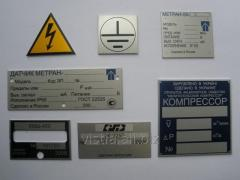 Plates metal, plates information on aluminum