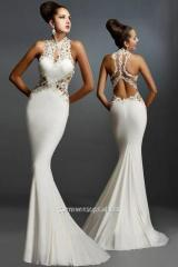 White evening dress year long with CB-60639-3 loop