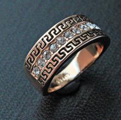 Кольца, бижутерия. Кольцо Золотой Обруч.