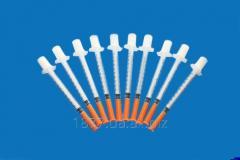 Шприцы 0,5ml  U-100 , 1 ml  U-100  в упаковке по 10 штук