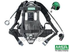 The respiratory device on MSA AirXpress compressed