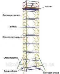 Towers working of prefabricated elements