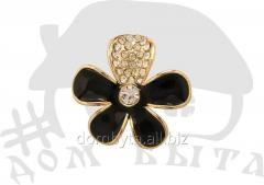 Ornament with stones 8380 black