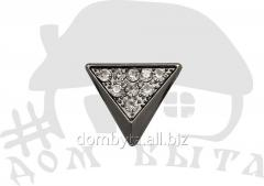 Ornament with stones 15405 dark nickel