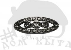 Ornament with stones 36835 dark nickel