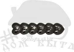 Ornament with stones 37560 dark nickel