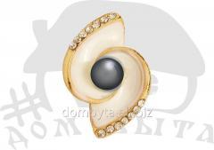 Ornament with stones 012114 dark nickel