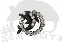 Ornament with stones 37089 dark nickel