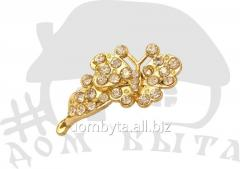Ornament with stones 41283 gold