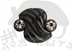 Ornament with stones 41988 dark nickel