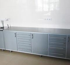 Metal furniture. A set for dental laboratory.