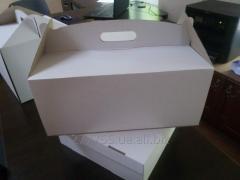 Коробка для ТОРТА (белого цвета) 300 х 300 х 250