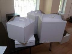 Коробка для ТОРТА (белого цвета) 300 х 300 х 400