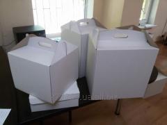 Коробка для ТОРТА (белого цвета) 350х350х350