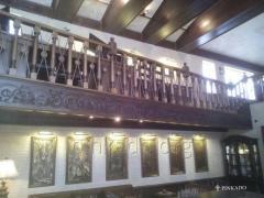 The beam is wooden stilizirovanny