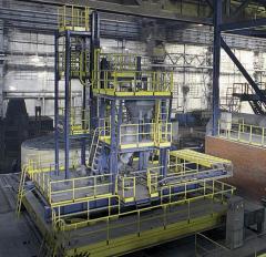 Installation of deep steel degassing