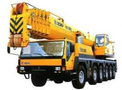 Cranes on the automobile chassis, XCMG truck