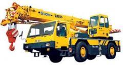 Cranes self-propelled boom XCMG. Load-lifting