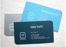 The business card is color