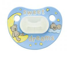 """Пустышка Bibi силиконовая, 12-36 мес. (M) (ночная) """"Sweet Dreams Blue"""" 110145, Швеция"""