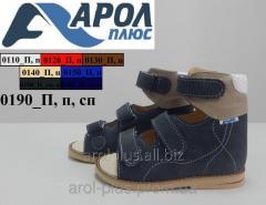 Medical sandals for children from natural