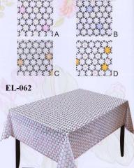 Cloth oil-cloth on Azhur Leys table with small