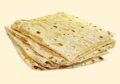 Unleavened wheat cake for shawarma, a toner kebab