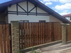 Fence wooden shtaketnik pine