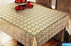 Cloth oil-cloth on a holiday table of Azhur Leys