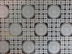 Cloth oil-cloth on Azhur Leys table Circles, color