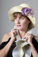 "Валяная шляпка ""Весна"""