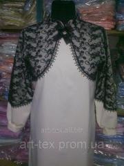 Платье для погребения с гипюром (№12)