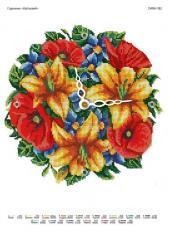 Scheme of beadwork Flower Clock