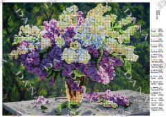 Beaded preparation Lilac