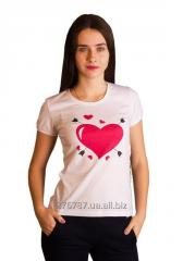 T-shirt female T-6, XXS, XS, S, M, L sizes