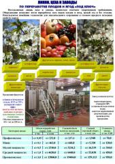 Equipment for processing of fruits and