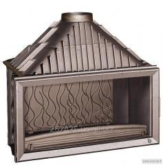 Chimney fire chamber of Invicta 1100 Grande Vision