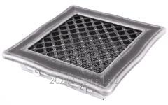 Deco 16x16 lattice silver patina