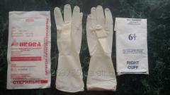 Перчатки латексные хирургические стерильные