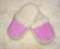 Vsuvka slippers from a sheepskin