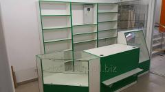 Racks and counters for shops