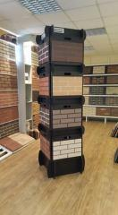 Furniture, trade stands for construction materials